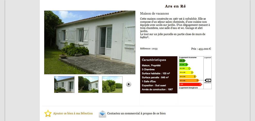 Création du site internet administrable, Duplessis Immobilier - #2