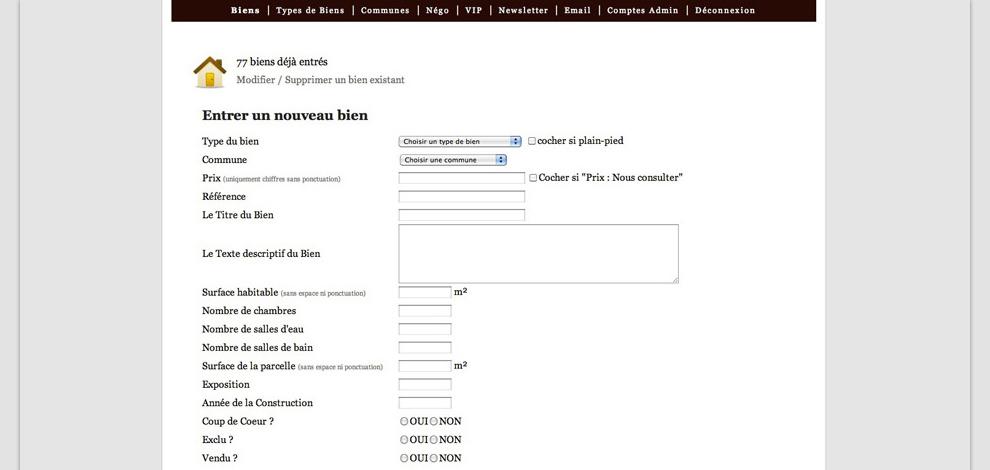 Création du site internet administrable, Duplessis Immobilier - #3