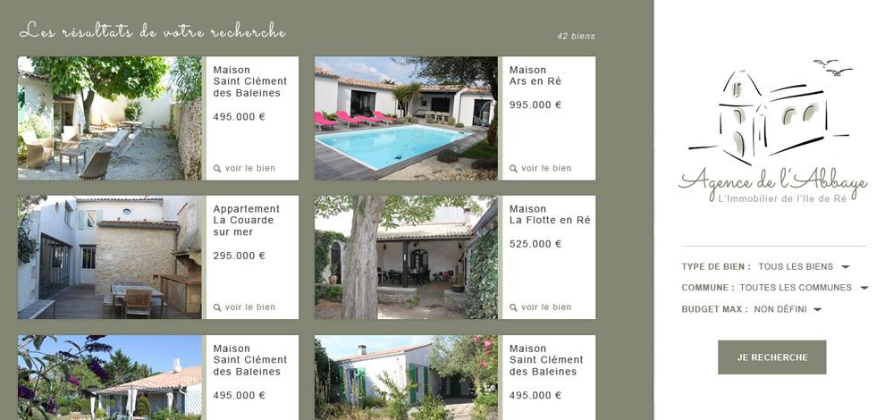 Création du site internet de l'agence, Agence de l'Abbaye - #2