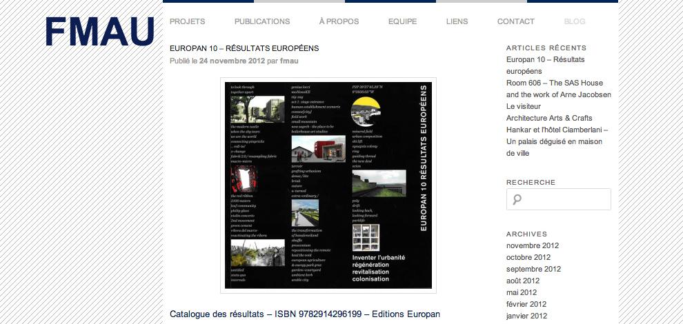 Création du site internet vitrine, FMAU - #3