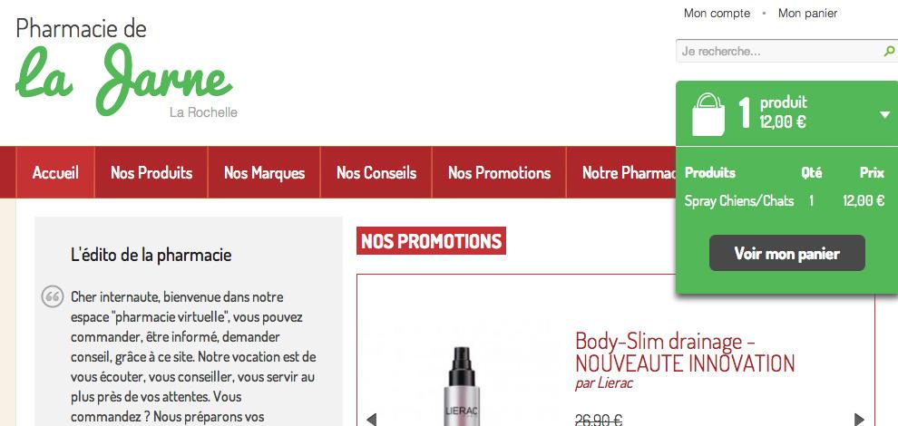 Création d'un site marchand pharmacie-drive, Pharmacie de La Jarne - #1