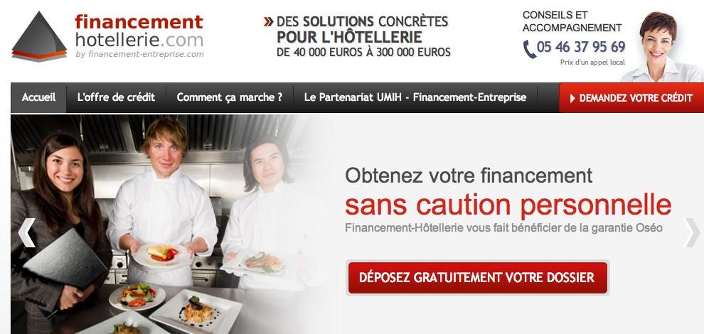 Création de sites web ciblés, Financement Entreprise - #2