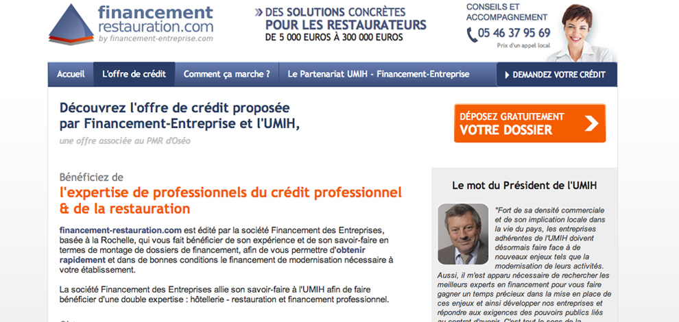 Création de sites web ciblés, Financement Entreprise - #3