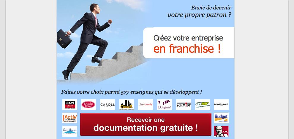 Réalisations d'emailings de prospection, Les Echos de la Franchise - #1