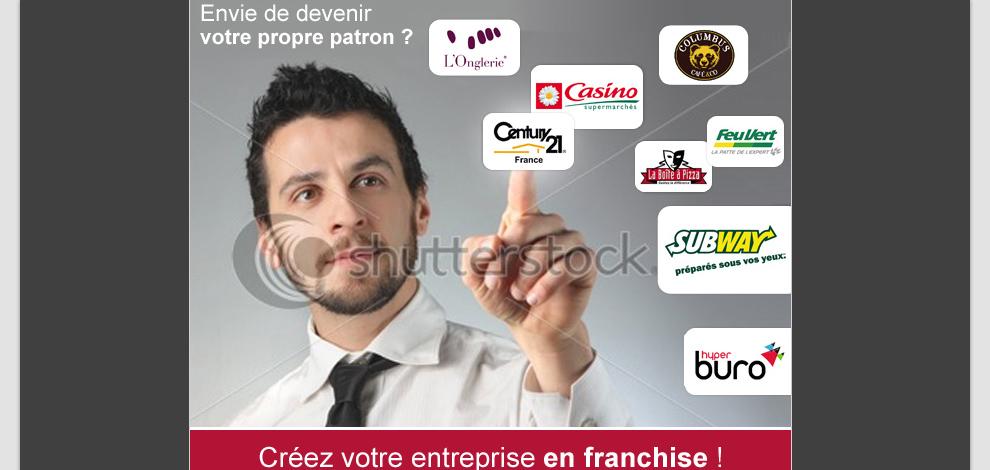 Réalisations d'emailings de prospection, Les Echos de la Franchise - #2
