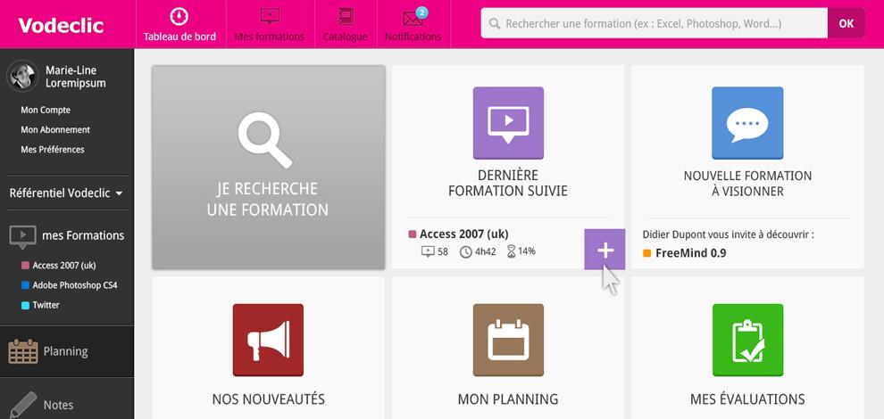 Ergonomie, Design de la V2 de l'application, Vodeclic - #1