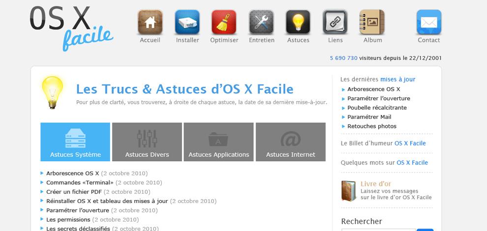 Refonte graphique du site internet, OSX Facile - #2