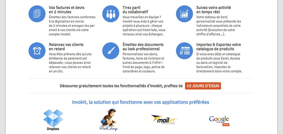 Refonte du site public de l'application saas, Invokit - #2